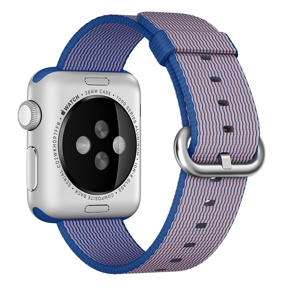 Watch Band, 42mm Apple iWatch Woven Nylon Fabric Replacement Strap Watch Bracelet Watchband Wrist Band for Apple iWatch (Blue)