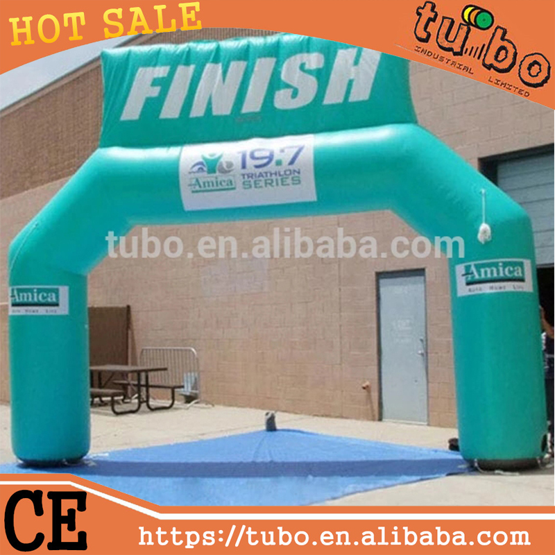 Giant opblaasbare start finish arch/opblaasbare finish boog/air boog voor event sport
