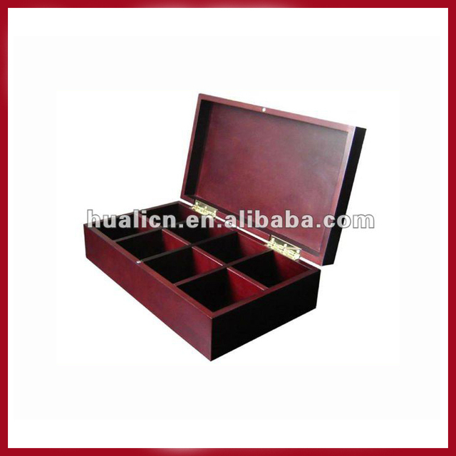 8 Compartments Wooden Tea Storage Box With Magnet