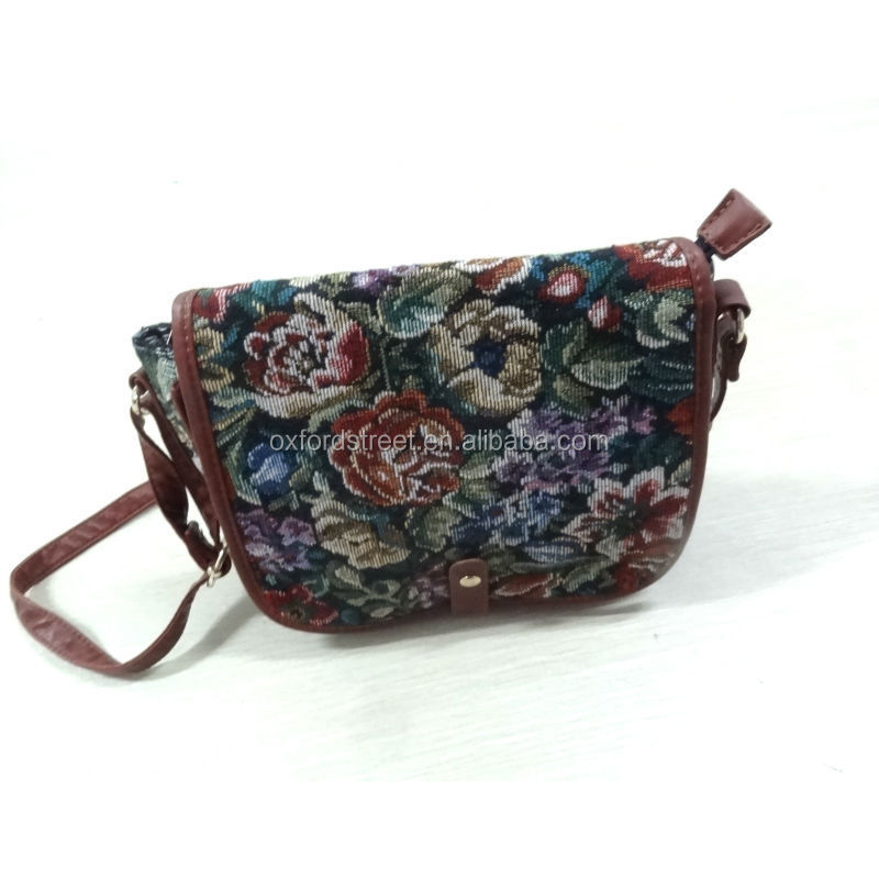 Posh Jacquard Fabric Bag