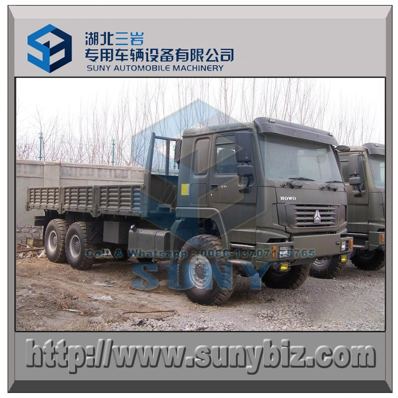 8500 mm cargo with HOWO 6x6 lorry cargo truck 290 hp