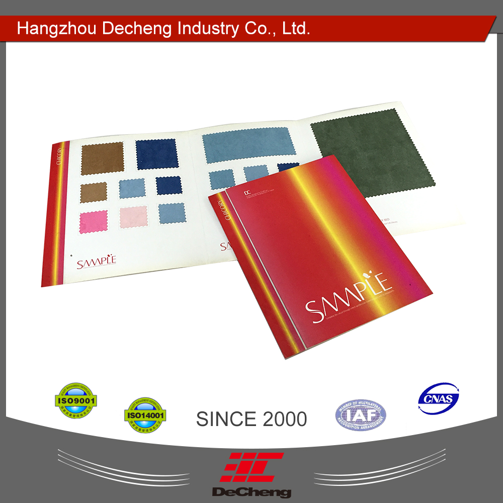 Customized printing color karte buch