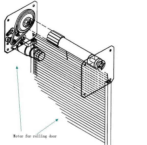 Remote control electric roll up garage door motor buy for Roll up garage door motors