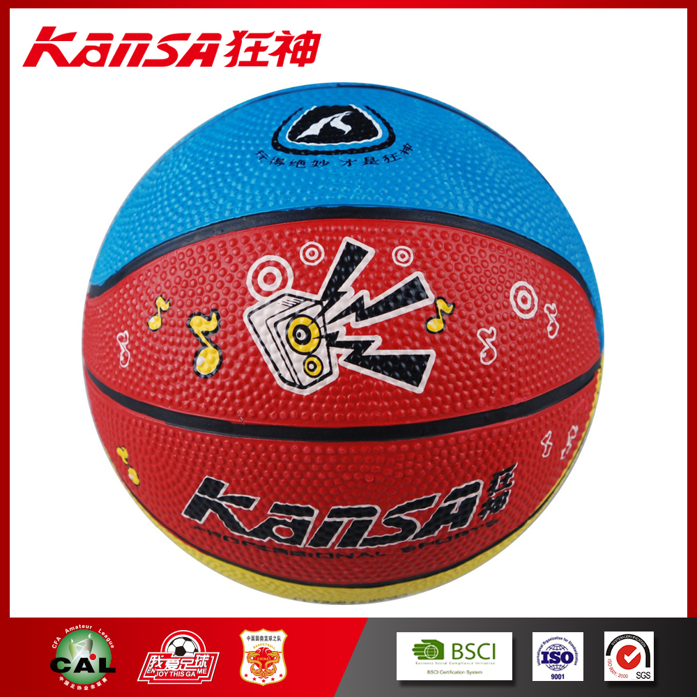 Kansa-0763 Durable Appreciate Commemorate Rubber Size 1 Children Basketball