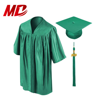 Shiny Green Graduation Gowns Set For Children Buy Kindergarten