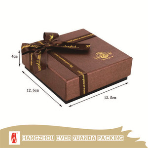 Luxury Handmade Chocolate Ribbon Decorated Folding Paper Gift Boxes
