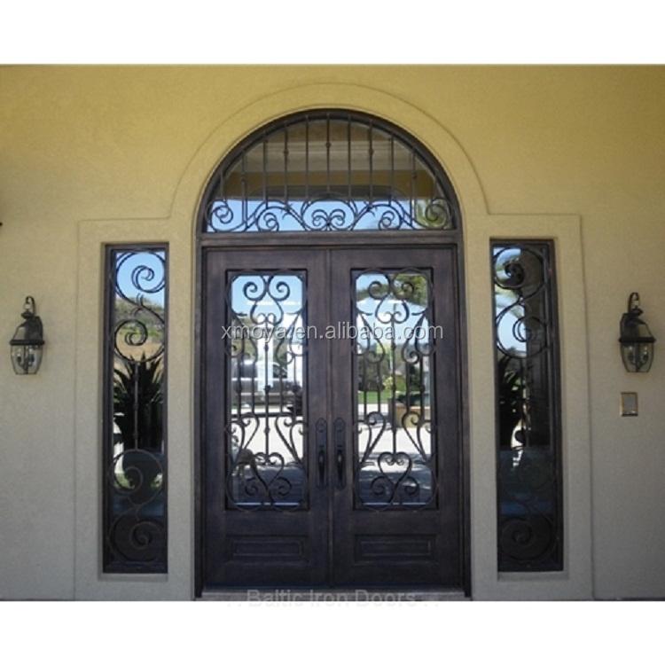 Excelente doble puerta de entrada exterior modelos puerta de hierro forjado dise os puertas - Modelos de puertas de hierro ...