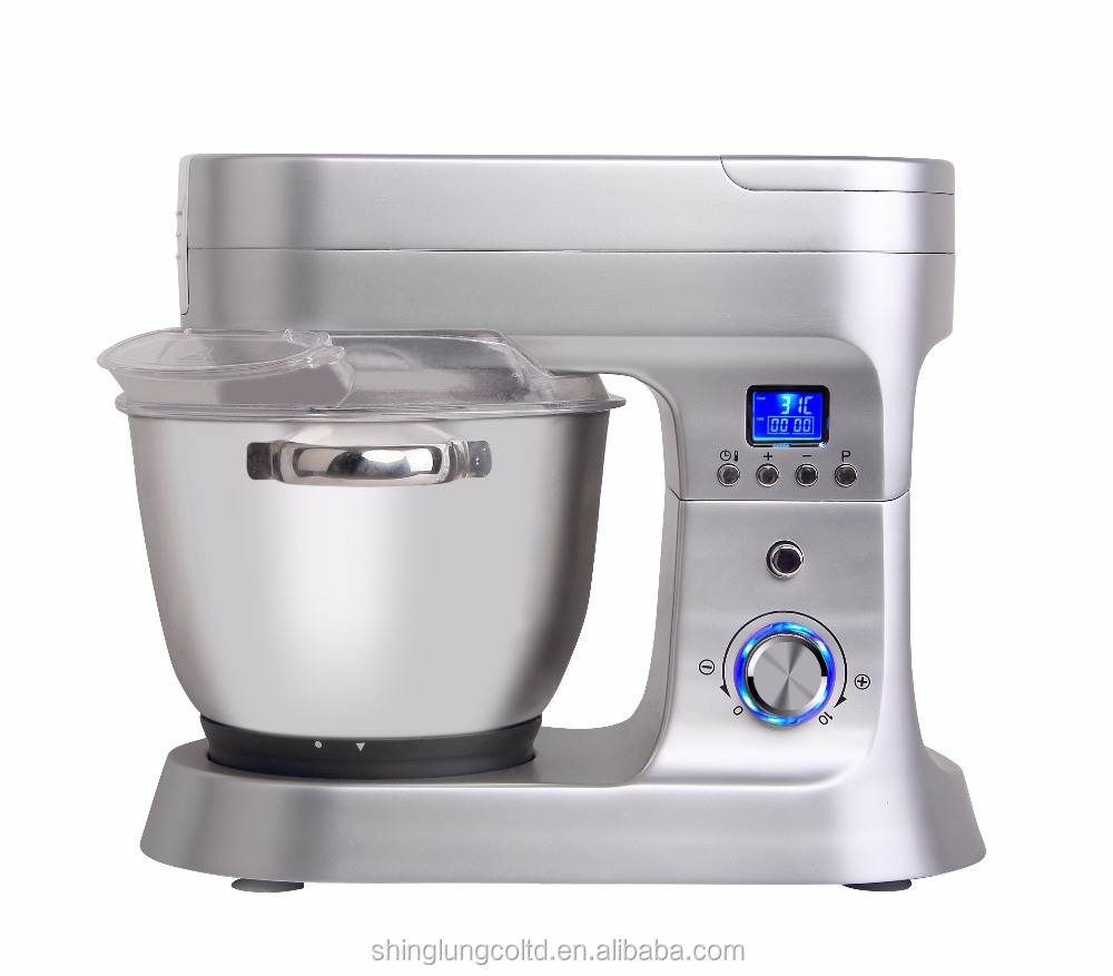Stand Dough Mixer/Food Processor/Juicer/Grinder with Heating and Cooking Function