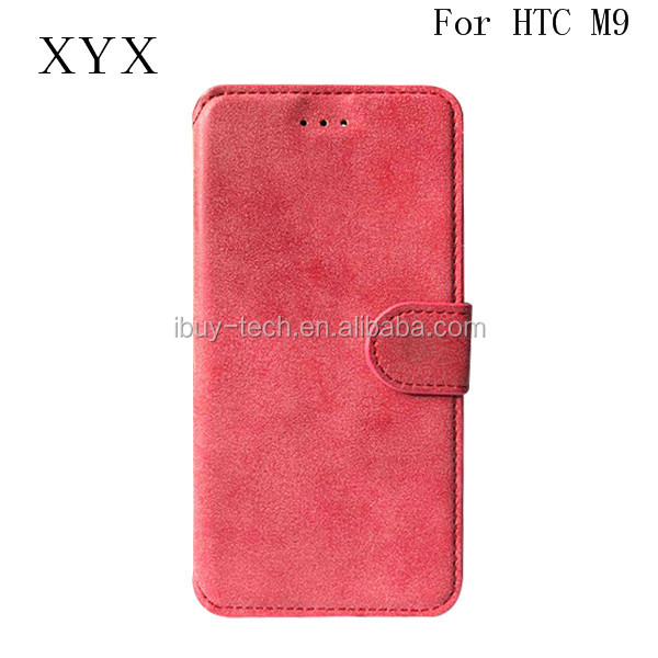 Luxury Wallet PU Leather Case For HTC One M9 Retro Flip with Stand Design Card Slot HK Exhibition Booth No 11K20