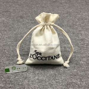 Custom Organic Cotton Canvas Drawstring Gift Pouch