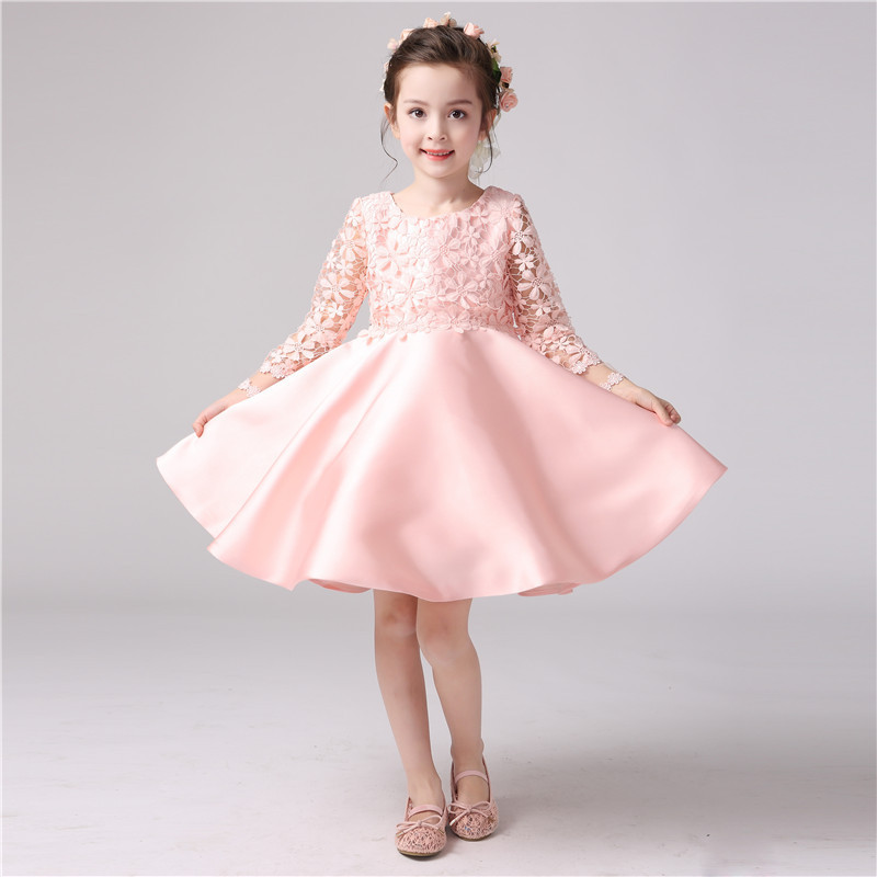 545c909eb New Girl Long Sleeve Lace Dress Beautiful Kids Party Dresses - Buy ...