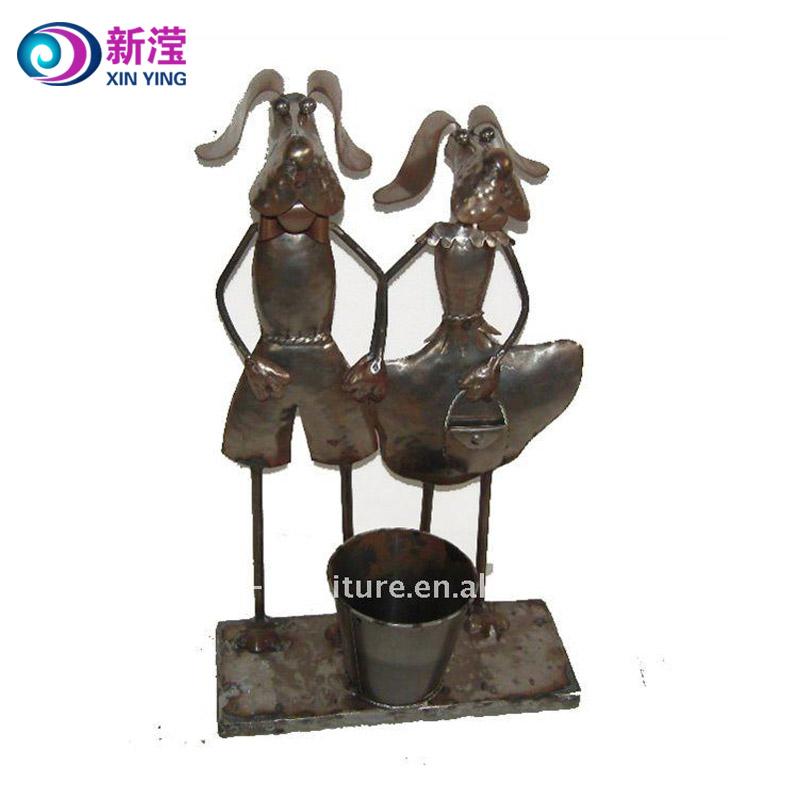 China Metal Decor Dog Flower Pots China Metal Decor Dog Flower Pots