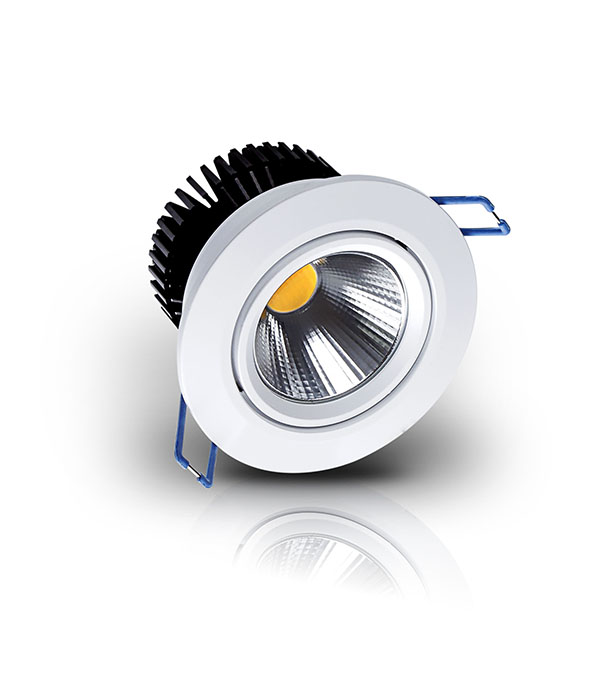 COB LED Residential Lighting 7W 12W 20W 30W Fire Rated with 5 Years Warranty Tiltable Downlight Recesses