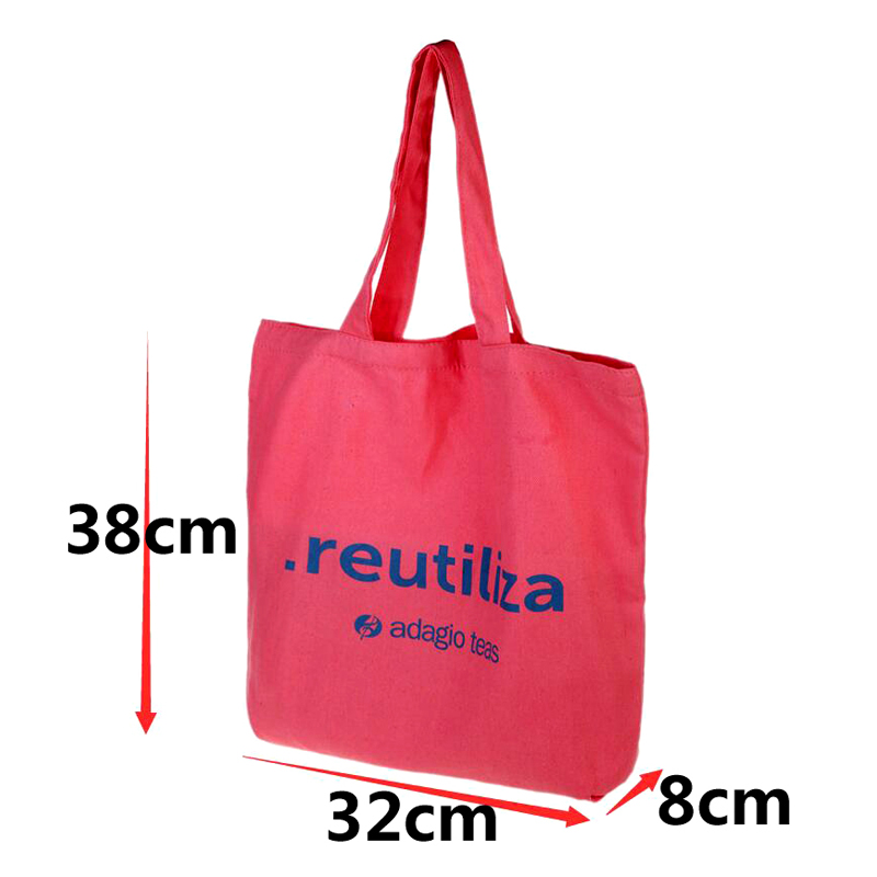 colorful cotton canvas tote bag  Eco-Friendly Fashion handle shopping bag