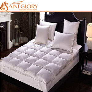 Alibaba Wholesale Anti Bacteria Down Pad Manufacturers Good Dream Siberian Goose Duck Down Mattress Pad Hotel Mattress Topper