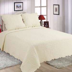 EMB quilts polyester or cotton quilt bedding set boutis