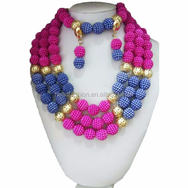 Queency Latest Big Fashion Designs Coral Beads Necklace Jewelry ...