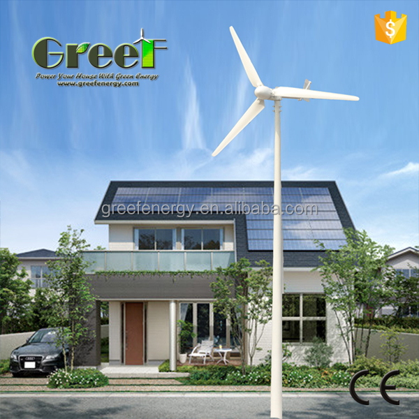 1kw 10kw Wind turbine and solar panels hybrid system for farm, factory, home