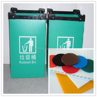 Corrugated Plastic Recycle Waste Collection Box, corrugated box waste