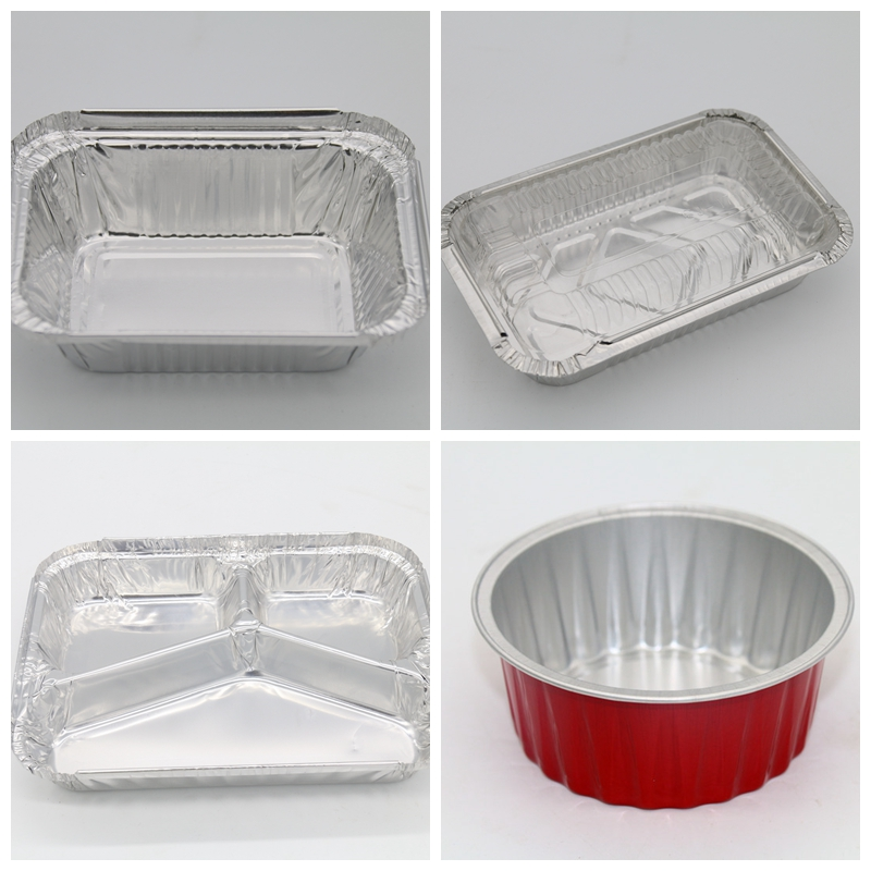 100ml Disposable Mini Aluminum Foil Baking Cups Round