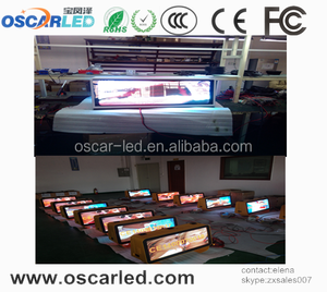 P10 Pixels and Full Color Tube Chip Color led taxi top advertising