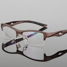 Модные мужские спортивные очки, оправа, оптические очки TR90, очки по рецепту, квадратные полуоправы, роскошные очки, прозрачные линзы(Китай)