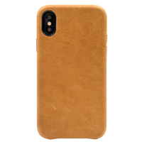 Genuine Leather Cover Case For Iphone XR Back Leather Case