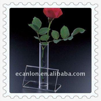 Acrylic Bud Vase With Greeting Card Holder Buy Clear Acrylic Vases