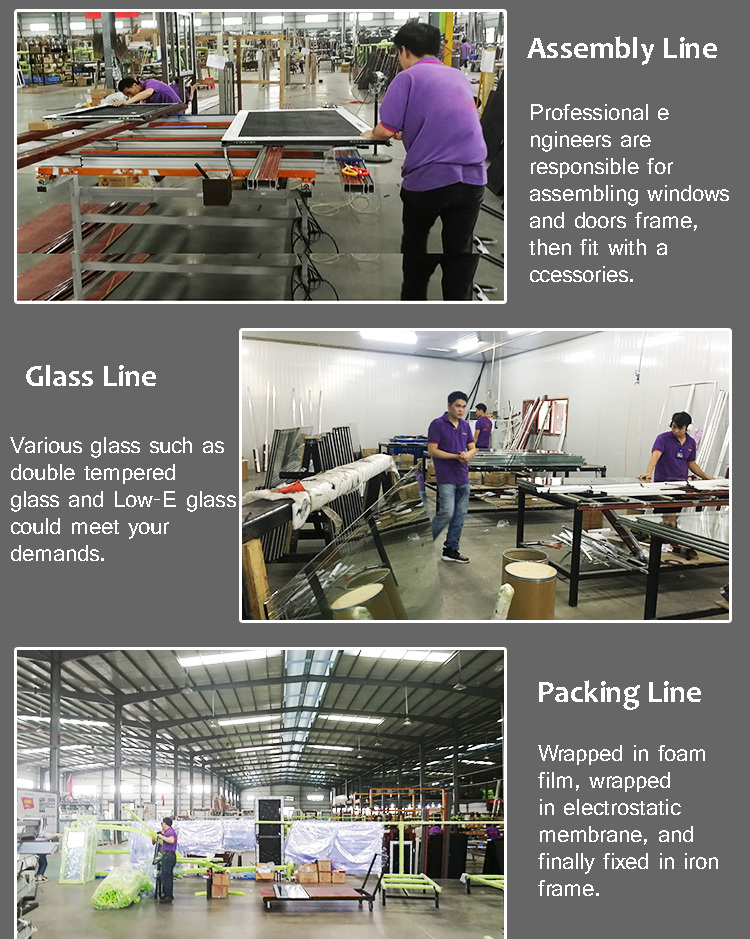 Good choice anti-scratch aluminum profile aluminum glass door and window for office