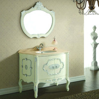 Vintage Chinese Quality Pure White European Style Bathroom Vanity Unit 138