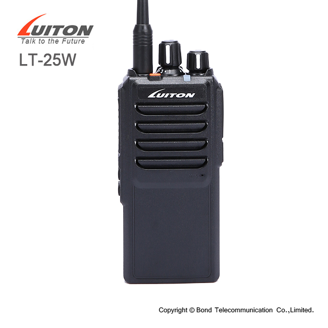Panjang rentang walkie talkie LT-25W transmitter dan receiver 2 way radio 25 watt