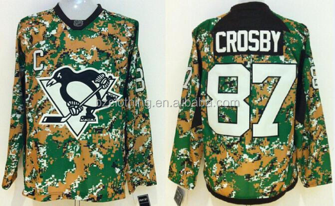 Sidney Crosbyy #87 Pittsburgh Penguins Camouflage National Ice Hockey Jersey