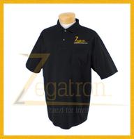 Custom pocket polo shirts with embroidered logo