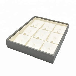 Customize PU leather earring display pastry bead display trays
