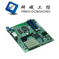 Industrial motherboard support LGA1150 Intel Core i3/i5/i7 Pentium 22nm Core processor with 14*USB/10*COM/4*PCI/6*SATAII