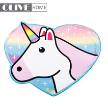 Top quality microfiber/fabric cartoon unicorn hooded custom kids beach towel for children