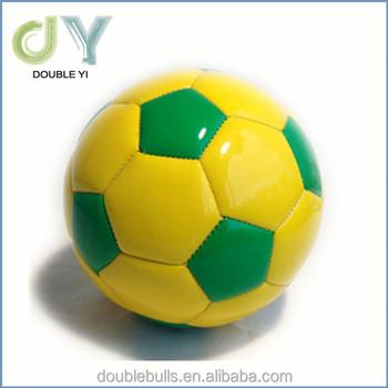 2283a1e1b9b58 Atacado verde e amarelo brilhante tamanho 2 bolas de futebol crianças best  seller mini bola de