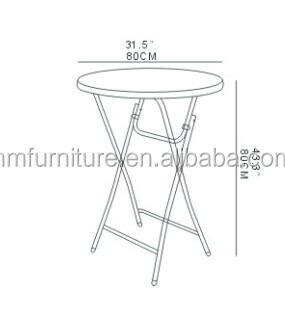 Groovy 110Cm Height Plastic Cocktail Table Wholesale From China Buy Outdoor Plastic Regular Folding Table Banquet Tables Round Foldable Tables Product On Spiritservingveterans Wood Chair Design Ideas Spiritservingveteransorg