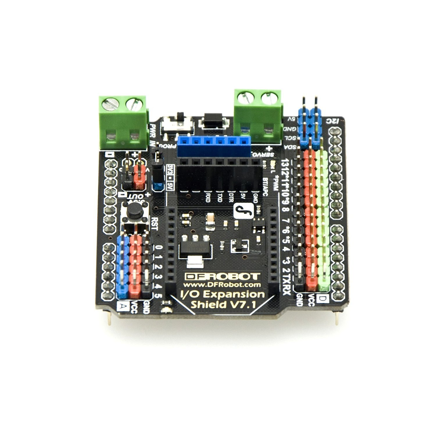 Venel--Gravity IO Sensor Expansion Board to Extend Arduino Port Interfaces Into 3P,3P Line Sensor Module.14 Digital Ports ,6 Analog Port. Support Interface: I2C,SPI,Xbee (Xbee pro),Bluetooth, APC220