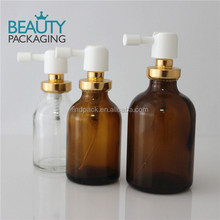 20ml 30ml 50ml pharmaceutical glass bottle with crimp on oral pump