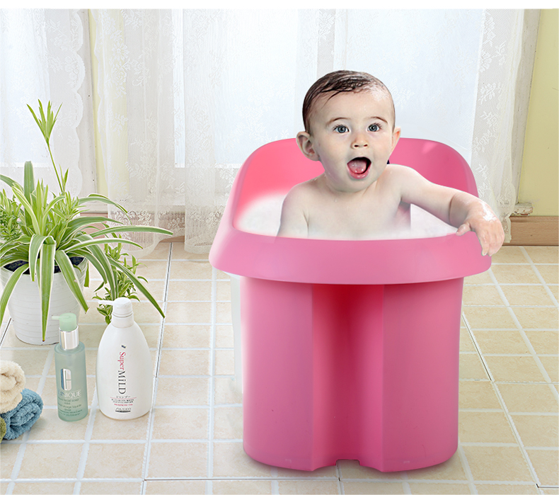 Colorful Portable Plastic Baby Shower Tub With Chair - Buy Shower ...