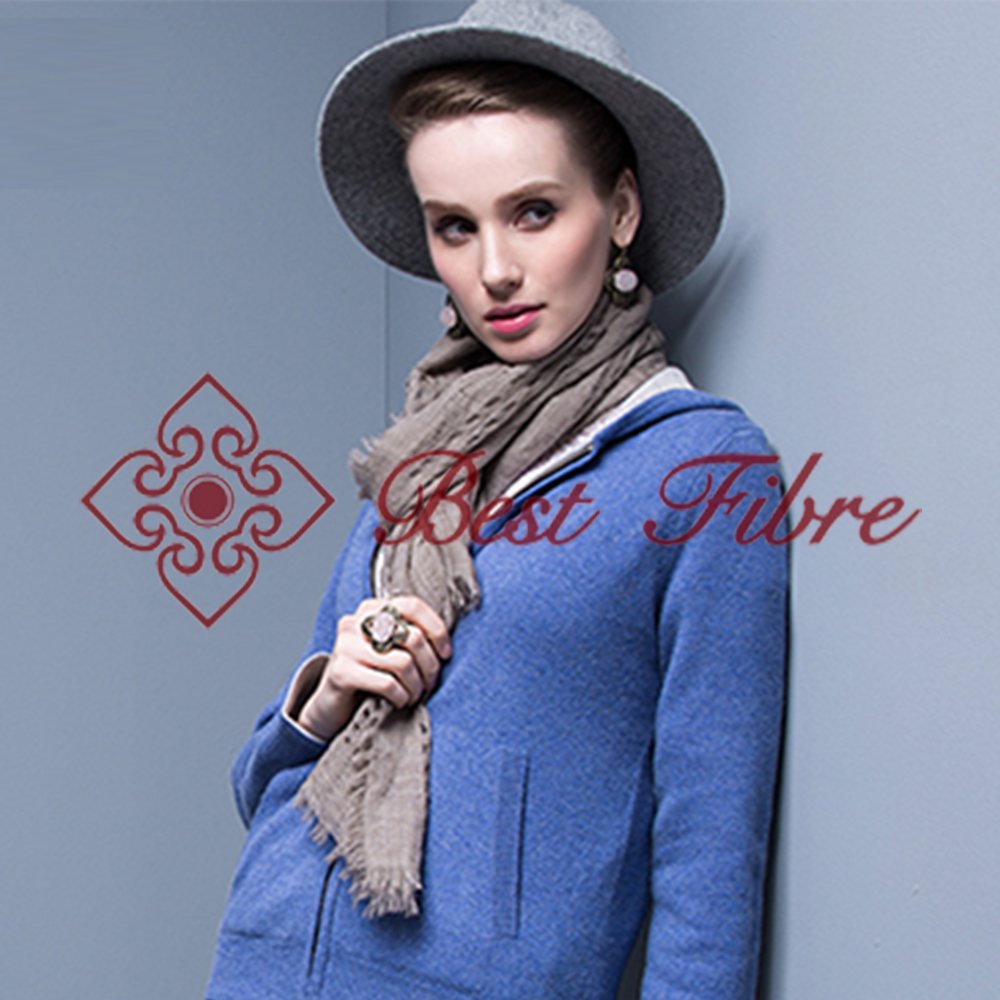 nobel style light&soft hollow check scarf/shawl 100% yak down