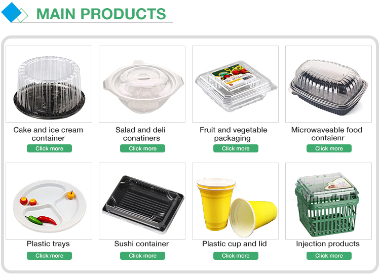 Factory / supplier disposable plastic salad / lunch / food containers / box with lid wholesale