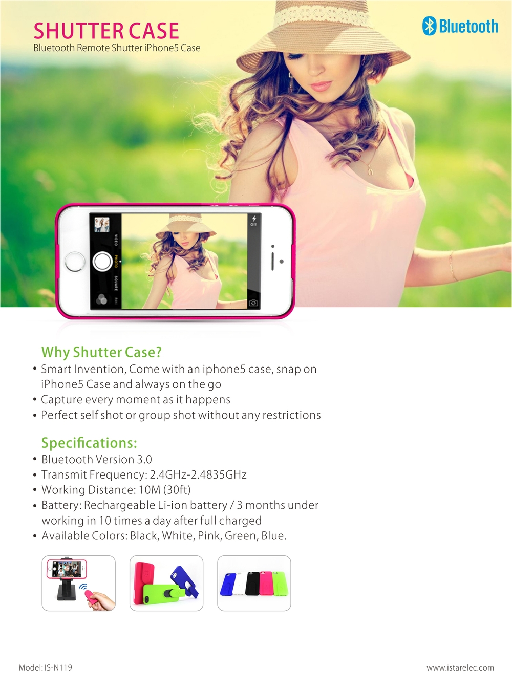 bluetooth remote control self-timer cell phone case