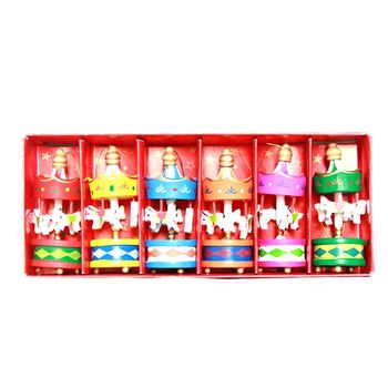 Hot sale mini carousel for christmas ornament wholesale christmas decorations craft