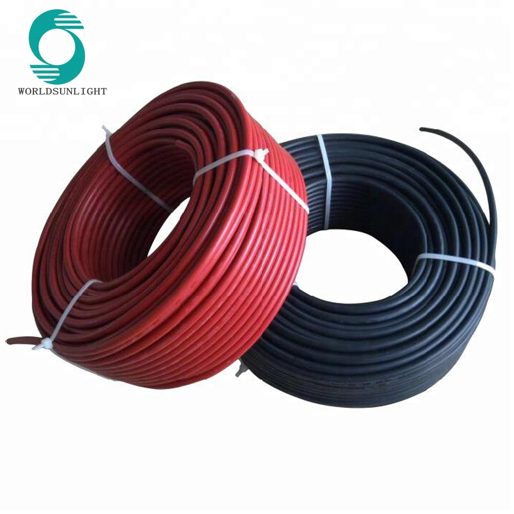 CE TUV approved single core double core 2.5mm2 4mm2 6mm2 10mm2 solar cable pv wire