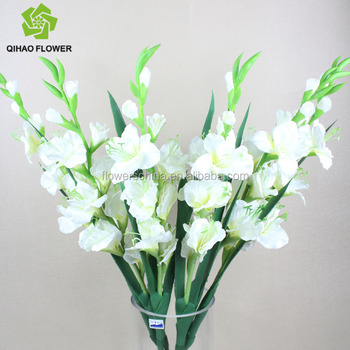 Real Touch Look Nature Silk Gladiolus Artificial Flower Make Silk