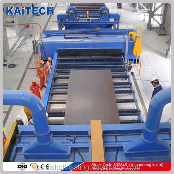 Q69 steel plate type abrasive blasting clean equipment, sand blasting