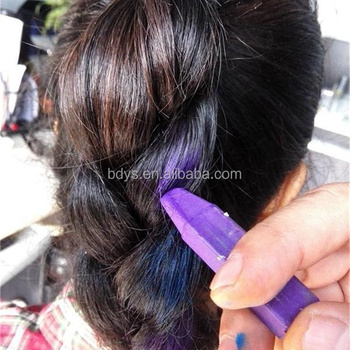 Oem South Korea Disposable Hair Coloring Chalk 12 Color Hair Stick ...
