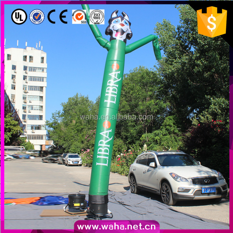High Quality Inflatable Replicas Air Dancer Spotted Dog Model For Display